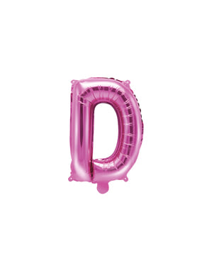 Balão foil letra D rosa escuro