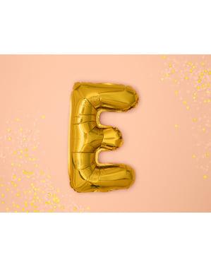 Letter E Foil Balloon in Gold (35cm)