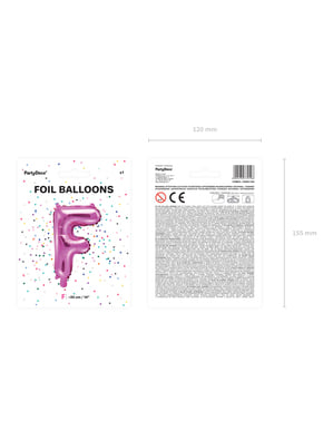 Letter F Foil Balloon in Dark Pink (35cm)