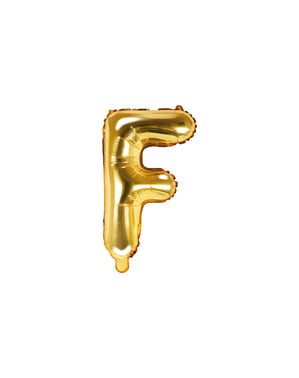 Letter F Foil Balloon in Goud