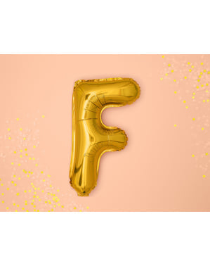 Letter F Foil Balloon in Gold