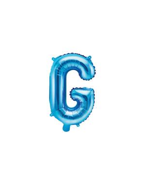 Niebieski balon foliowy Litera G