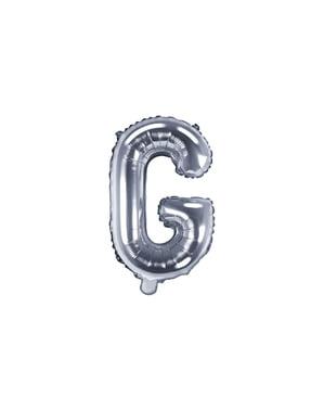 Srebrny balon foliowy Litera G