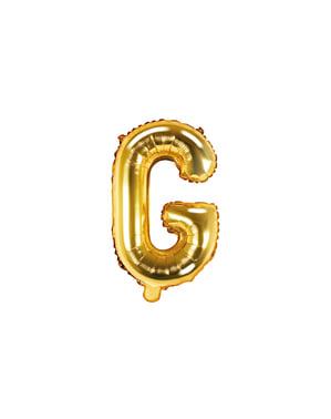 Letter G Foil Balloon in Gold