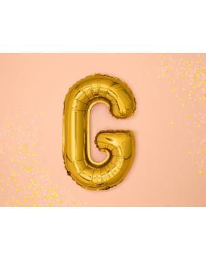 Letter G Foil Balloon in Goud