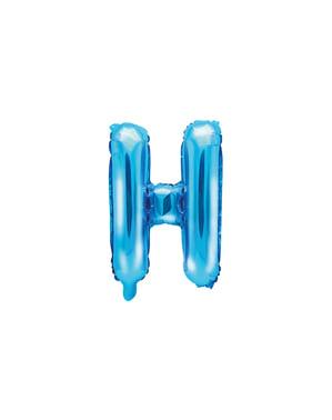 Balão foil letra H azul