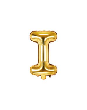Letter I Foil Balloon in Gold