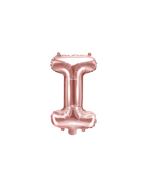 Foliový balonek písmeno I růžové zlato