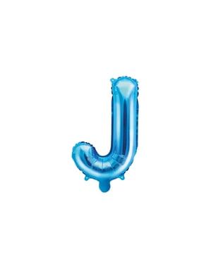 J-kirjaimen muotoinen foliopallo (sininen)