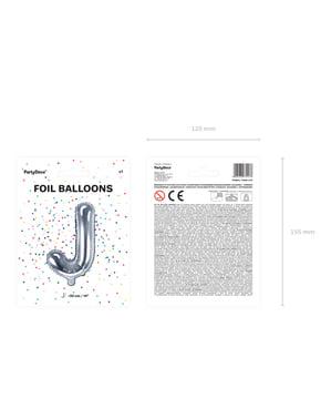 Ballon aluminium lettre J argenté