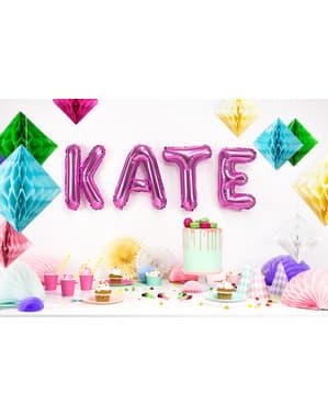 Balão foil letra K rosa escuro