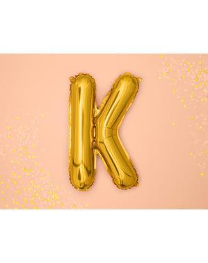 Globo foil letra K dorado