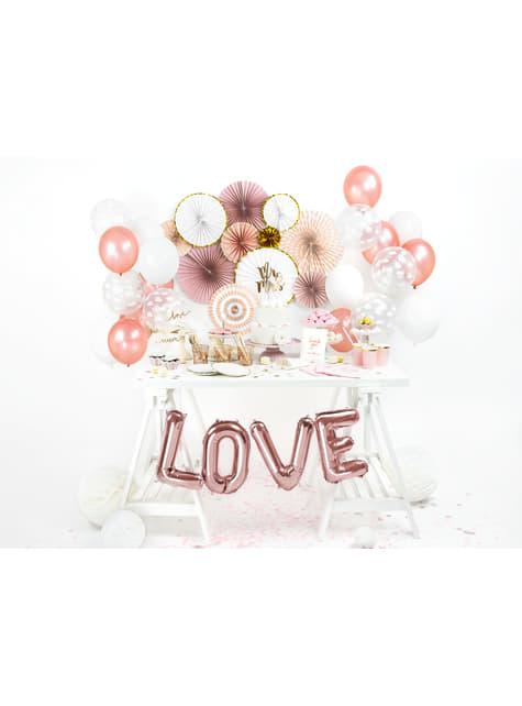 Globo foil letra L oro rosa - para tus fiestas