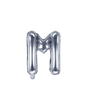 Ballon aluminium lettre M argenté