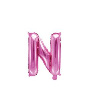 Globo foil letra N rosa oscuro