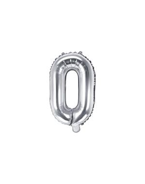 Ballon aluminium lettre O argenté