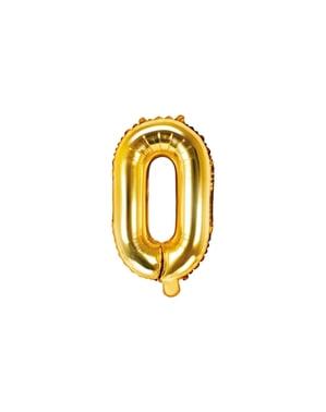Letter O Foil Balloon in Goud