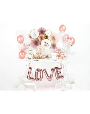 Folija balon slovo O zlatno roza
