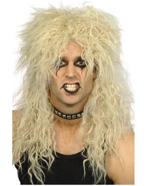 80'er heavy metal paryk til mænd
