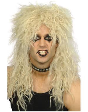 Parrucca metal anni '80 uomo