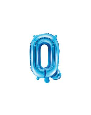 Balão foil letra Q azul