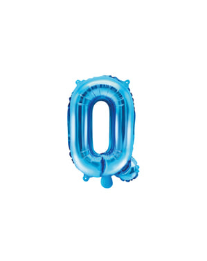 Ballon aluminium lettre Q bleu