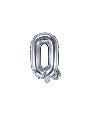 Ballon aluminium lettre Q argenté