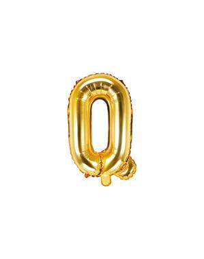 Letter Q Foil Balloon in Gold