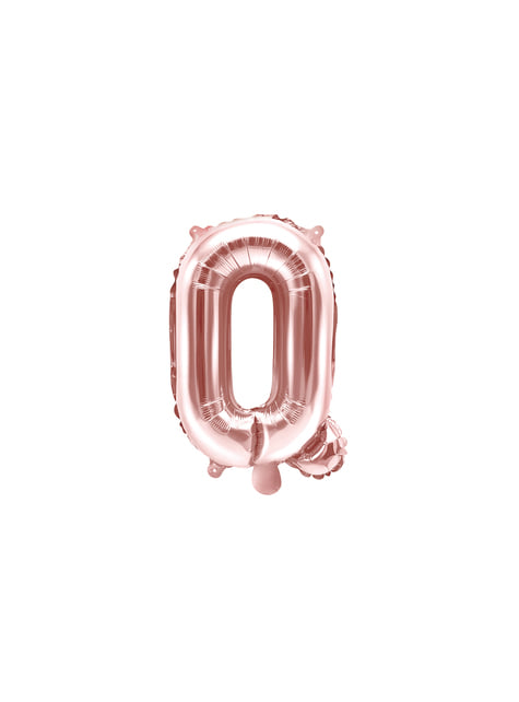 Globo foil letra Q oro rosa