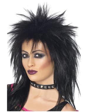 Peluca de rock para mujer