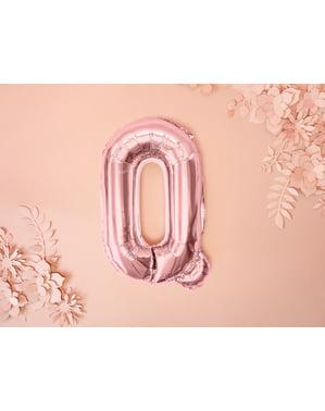 Folija balon slovo Q zlatno roza