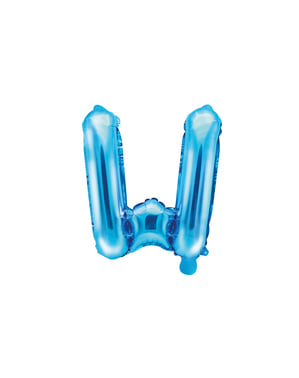 Niebieski balon foliowy Litera W (35cm)