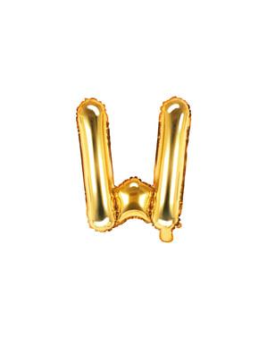 Letter W Foil Balloon in Gold (35cm)