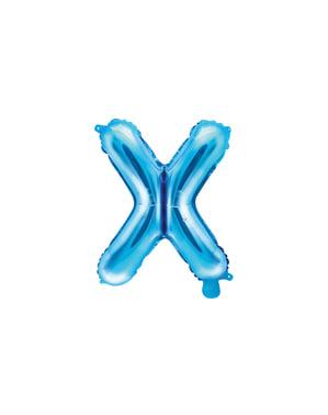 Balão foil letra X azul (35cm)