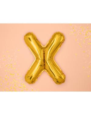 Letter X Foil Balloon in Gold (35cm)