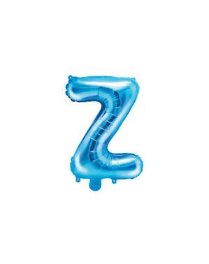 Z-kirjaimen muotoinen foliopallo (sininen) (35 cm)