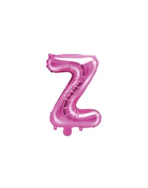 Ciemnoróżowy balon foliowy Litera Z (35 cm)