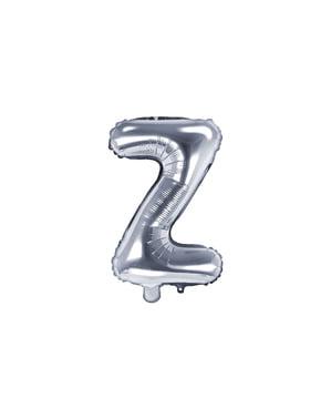 Ballon aluminium lettre Z argenté (35 cm)