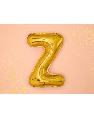 Letter Z Foil Balloon in Gold (35 cm)