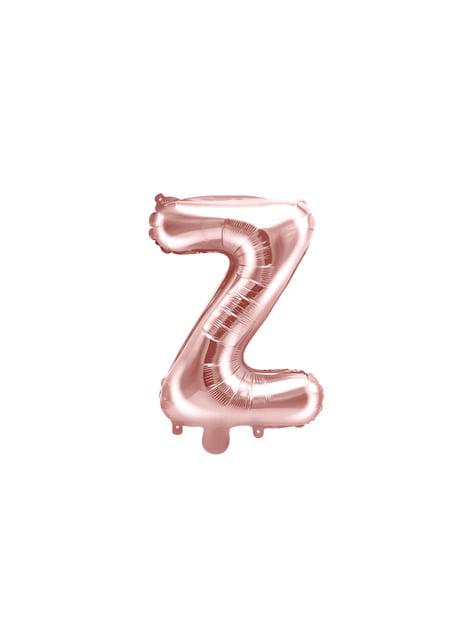 Globo foil letra Z oro rosa (35 cm)