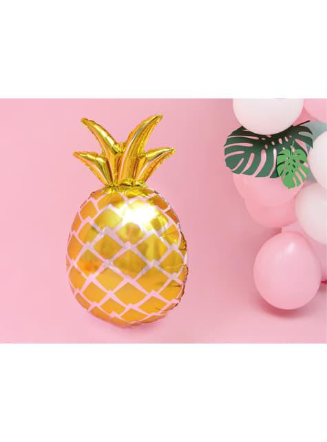 Globo de foil piña dorada - Aloha Turquoise - para tus fiestas