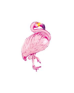 Folieballong av en rosa flamingo - Aloha Turkis
