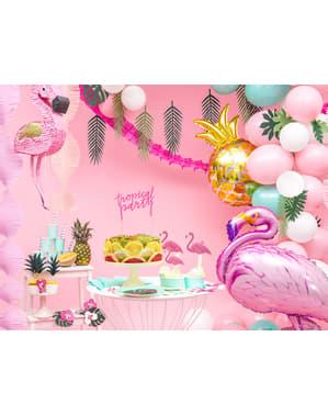 Folieballong i form av en rosa flamingo - Aloha Turquoise