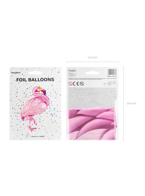 Ballon aluminium flamant rose - Aloha Turquoise
