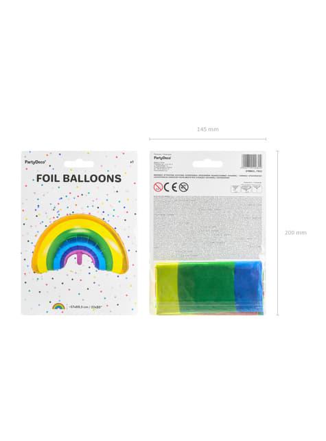 Ballon aluminium arc-en-ciel multicolore