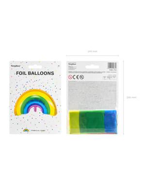 Folie ballon van een multigekleurde regenboog
