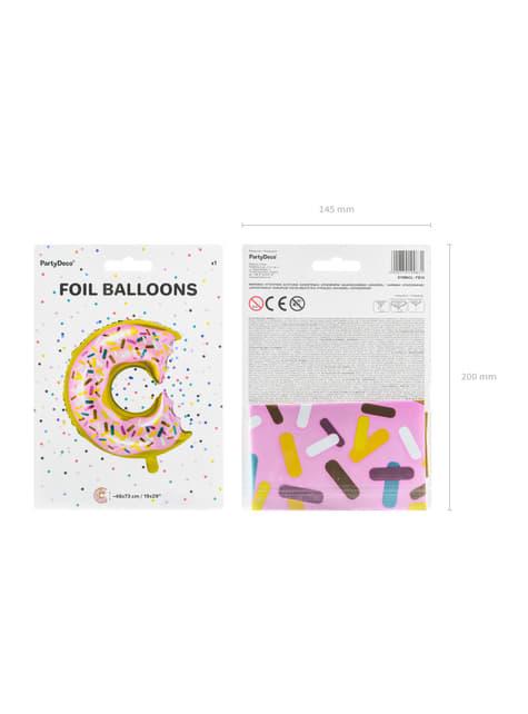 Ballon aluminium donut multicolore