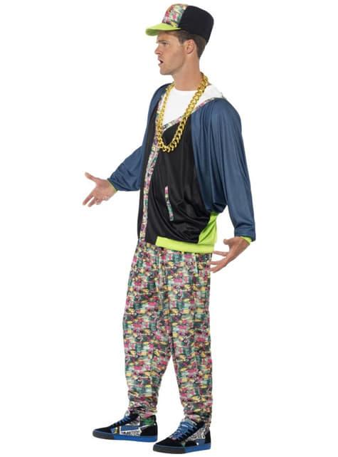 Disfraz de hip hop años 80 para hombre - original