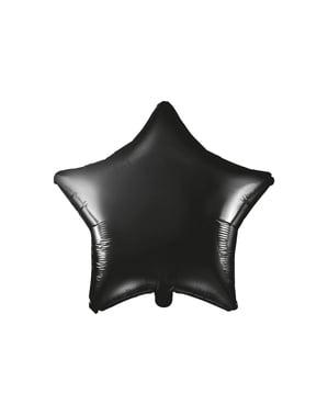 Balão em alumínio em forma de estrela preto