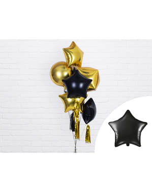 Foil balloon in the shape of a star in black